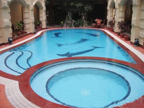 游泳池马赛克图片 马赛克贴图欣赏