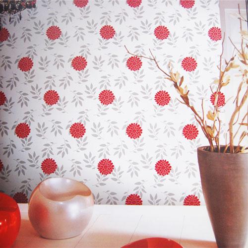 玉兰墙纸 墙面上的精彩