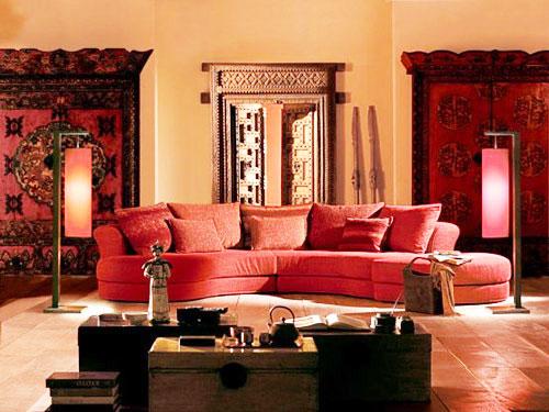 春节布置喜庆的客厅