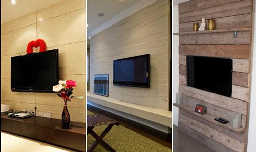 看木质电视背景墙装修