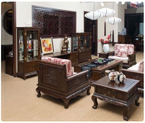 实木彰显品位 名匠木坊中式沙发