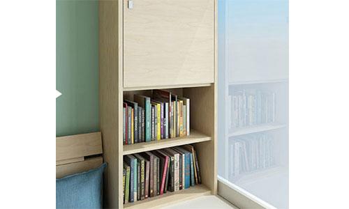 设计师将梳妆台与床头采用一体设计,将空间利用率提升到极致,完美的