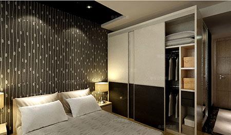 索菲亚 定制衣柜 欧式风格 推拉门定做整体组合 格拉斯布纹平板衣柜