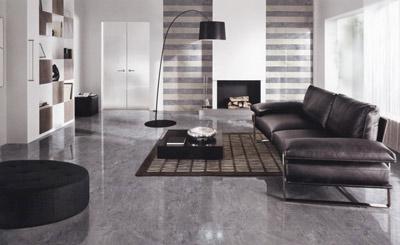 客厅灰色地砖装修效果图