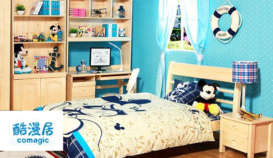 儿童房间双层床装修效果图