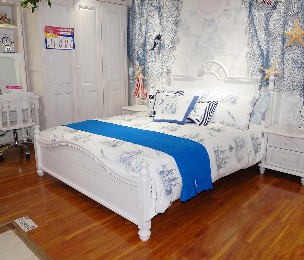 小床 实木板材 榫卯结构 欧式风格  眼缘:0  大自然 实木床架 ha2-901