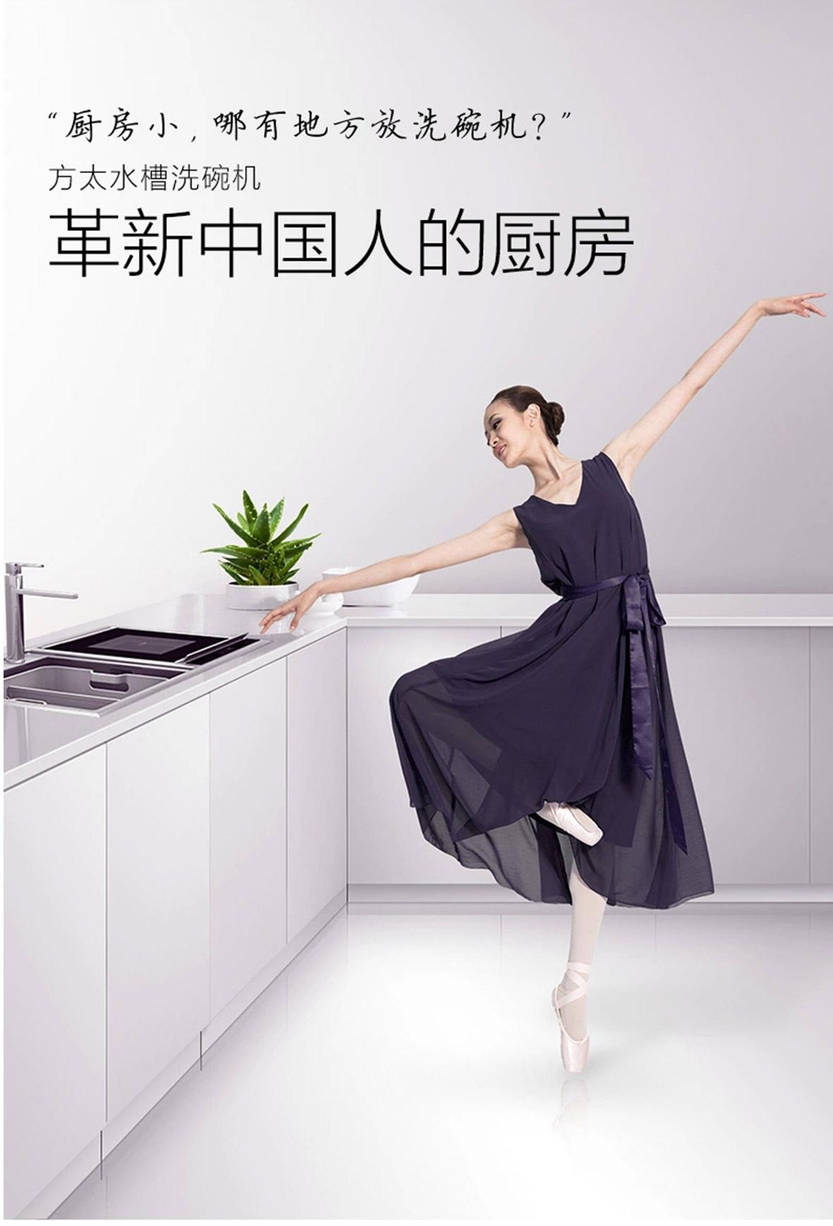 方太水槽洗碗机 嵌入式 JBSD2T-Q1型号 果蔬净化机跨界三合一