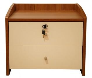 耐特利尔,床头柜,胡桃色