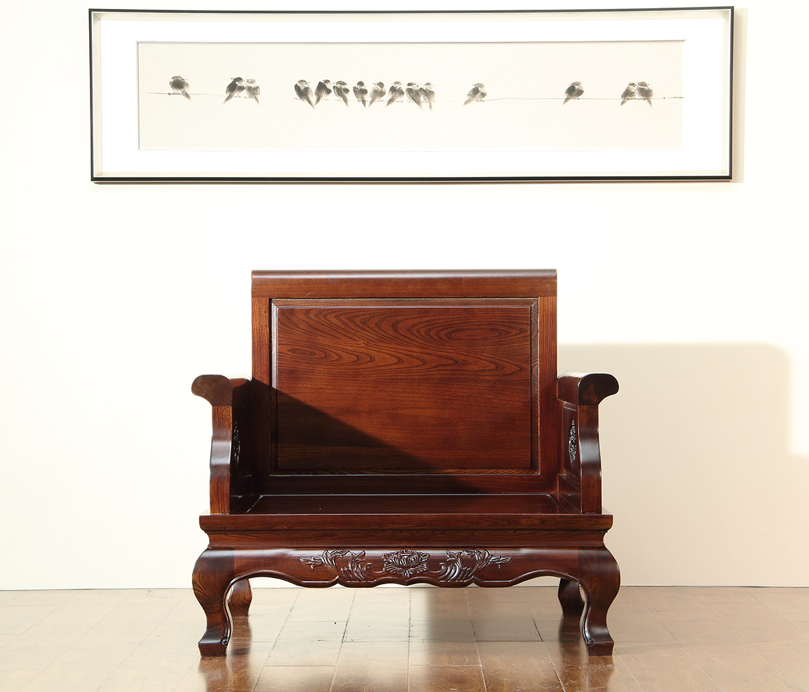 赖氏家具 胡桃木单人沙发