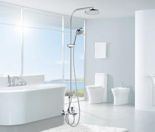 摩恩卫浴,淋浴杆,全铜材质