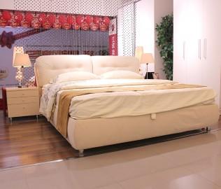 红苹果,现代简约,布艺床