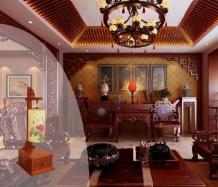 阿尼玛,中式,台灯