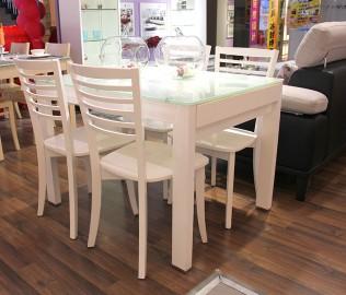 红苹果,现代简约,板面餐椅