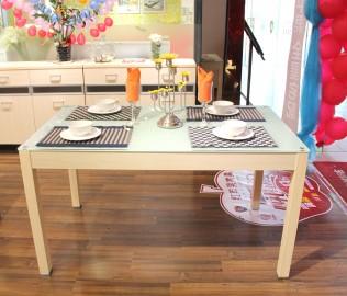 红苹果,现代简约,玻璃餐桌