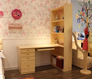 酷漫居,组合书桌,芬兰松木