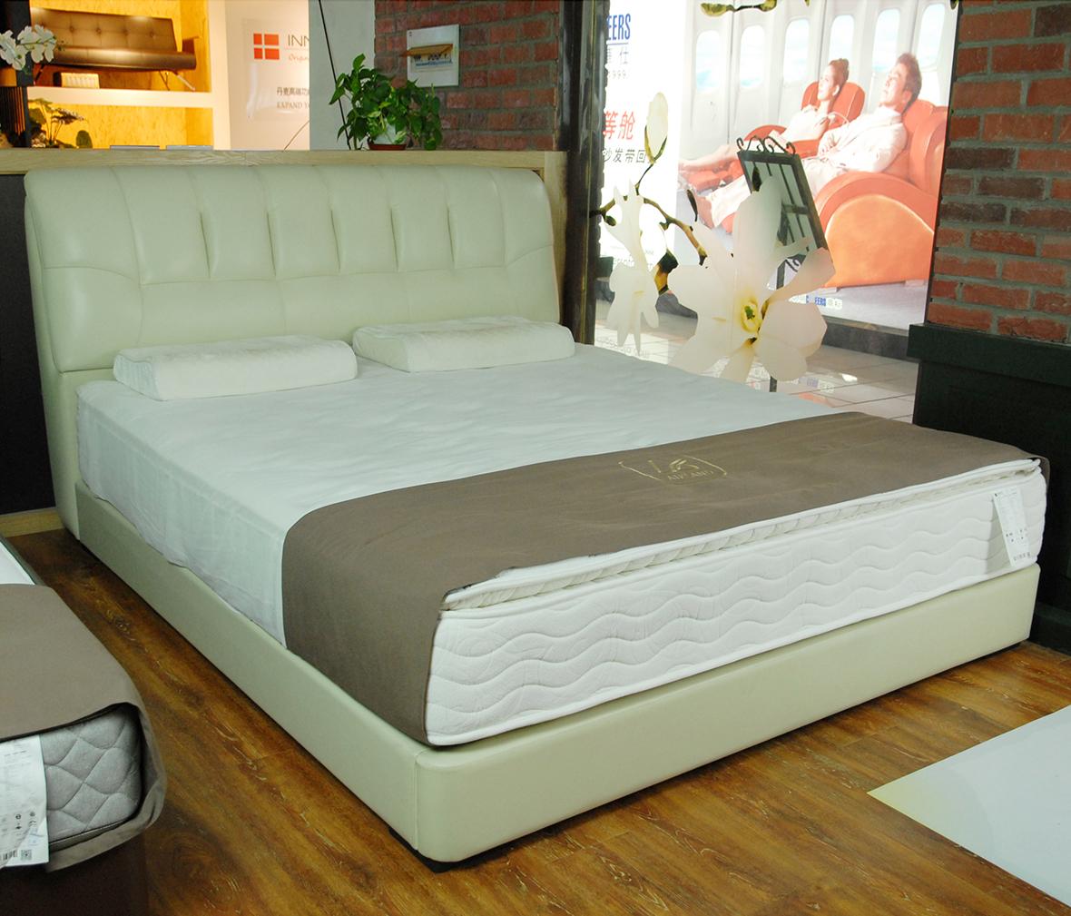 雅蘭 ALS-0113-C型號 雙人床 床架 頭層牛皮 海綿填充 皮床
