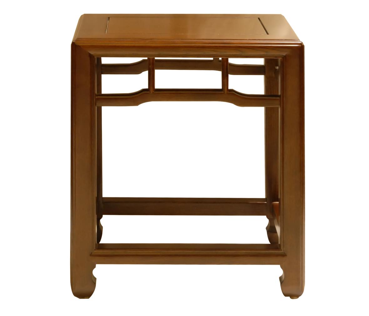 瑞尔家具 方凳 yd008型号 榆木材质 中式古典风格 明式造型风格
