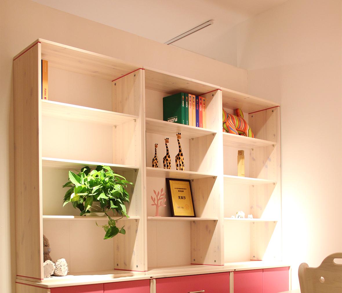 实木宽柜书柜