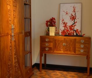 端景台,国安佳美,实木家具