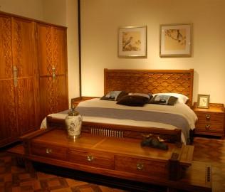 床头柜,国安佳美,实木家具