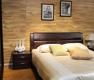 华日家居,床头柜,缅甸楠木