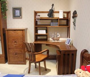 转角书桌,光明,实木家具