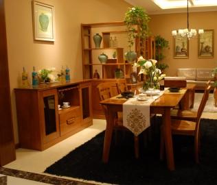 餐边柜,光明,实木家具