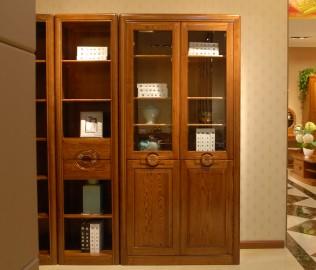 二门书柜,光明,实木家具