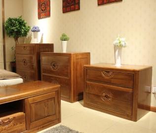 三屉柜,光明,实木家具