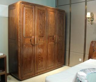 四门衣柜,光明家具,实木家具