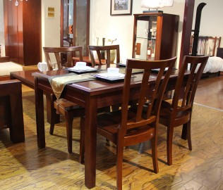 华日家居,餐桌,水曲柳