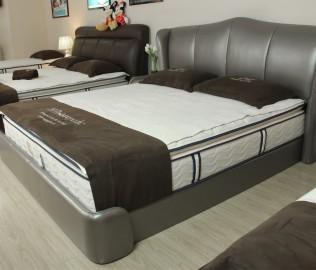 丝涟,床架,皮质床
