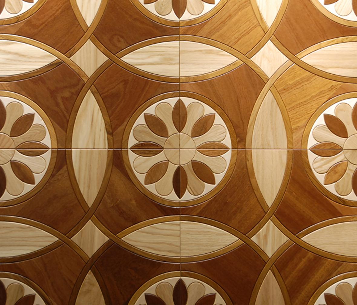 安信地板 多层实木地板 老榆木 巧克力色 美式复古风格图片