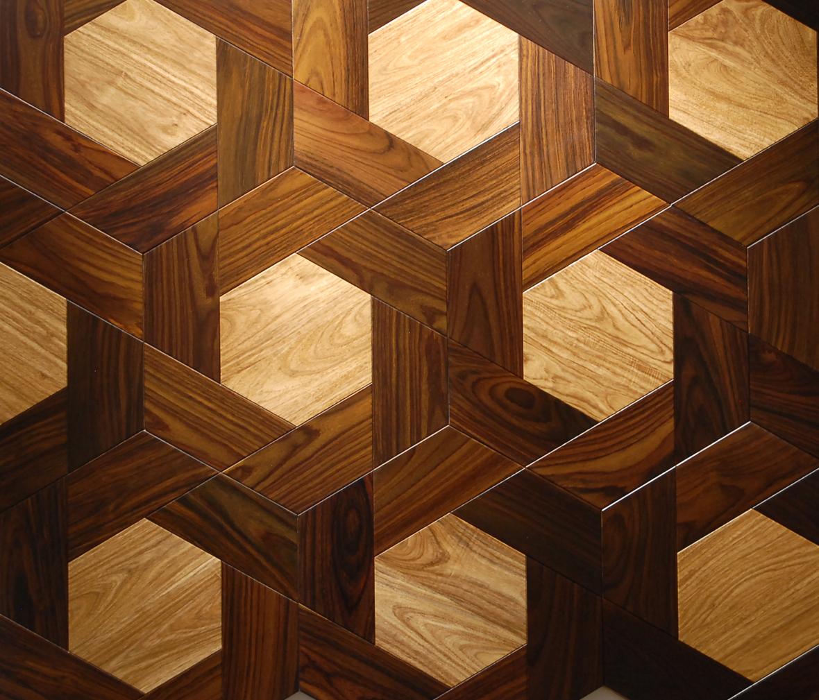 安信地板 多层实木地板 老榆木 樱桃木色 美式复古风格图片