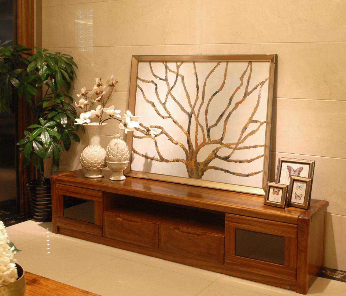 伯爵庄园 原7173型号美式古典实木弧形电视柜 百年工艺打造图片