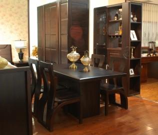 华日家居,餐椅,楠木