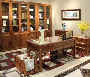 书桌,光明家具,实木家具