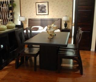 华日家居,餐桌,楠木