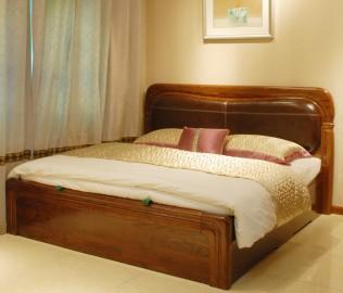 双人床,光明家具,实木家具