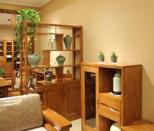 间厅柜,光明家具,实木家具