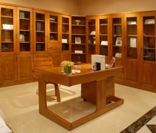 转角书柜,光明家具,实木家具