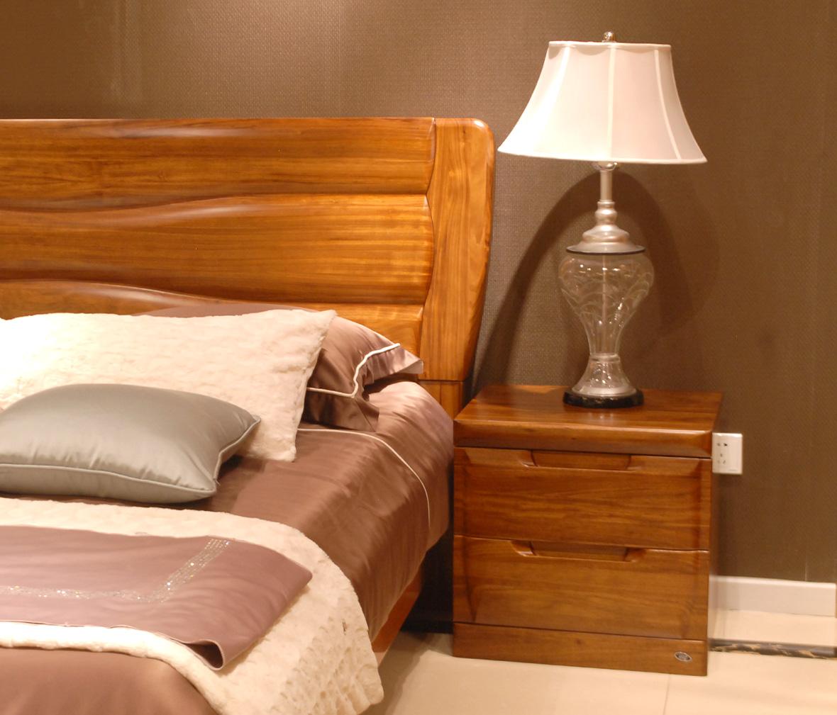 赖氏家具 乌金木床头柜wjo02型号 进口实木 现代简约风格