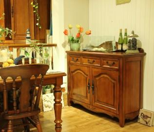 迦南,餐柜,实木家具