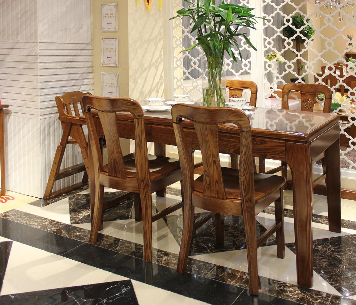 光明家具 东方金鼎系列 餐桌398-4101-140 实木家具图片