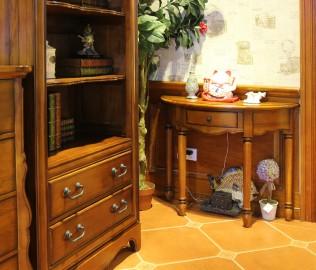 迦南,玄关桌,实木家具