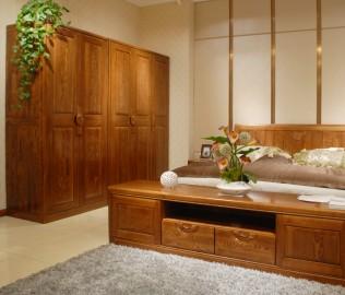 三门衣柜,光明家具,实木家具