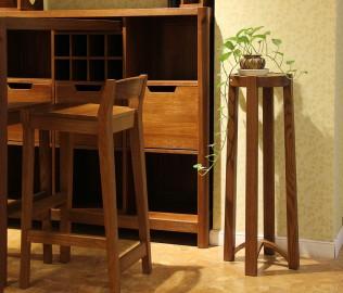 天坛家具,花架,榆木家具
