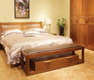 天坛家具,床尾凳,榆木家具