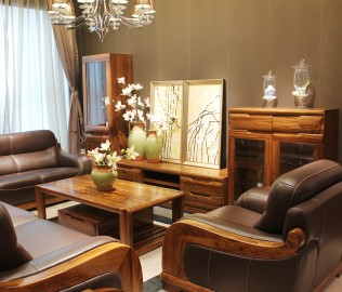 组合厅柜,赖氏家具,进口实木
