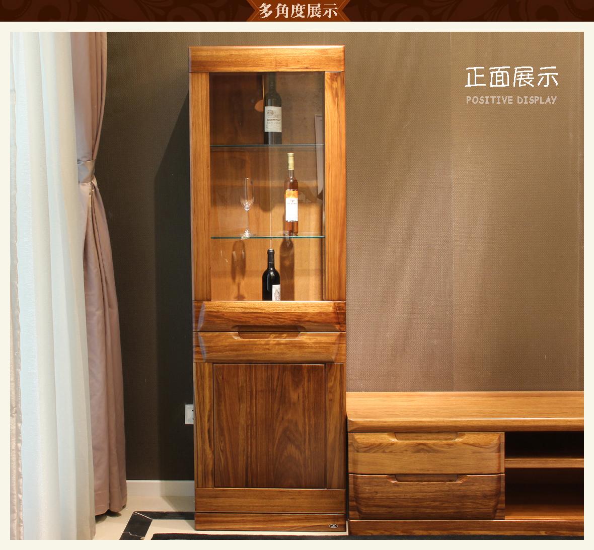 赖氏家具 乌金木厅柜(高柜)wjk03b型号 进口实木 现代